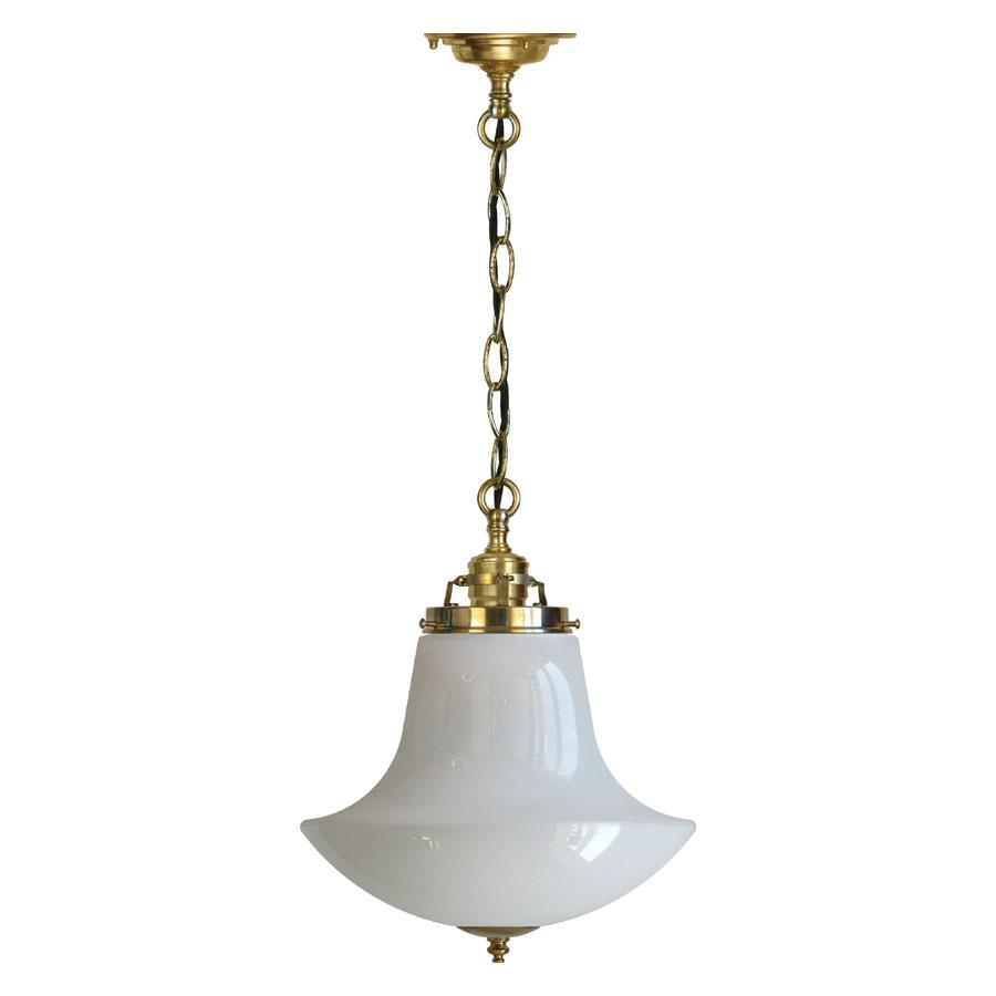 Klassiska taklampor - Lampa i mässing, gammaldags stil