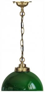 Ceiling lamp - Chain pendant rounded green shade