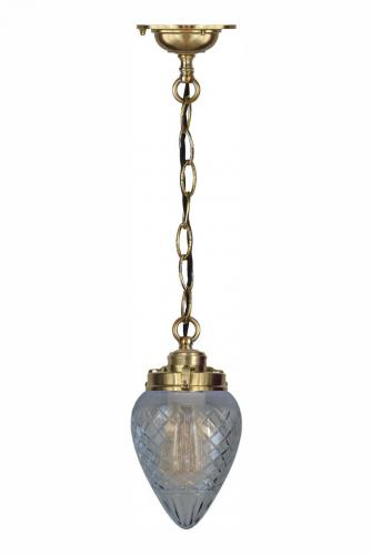 Ceiling lamp - Chain pendant clear glass