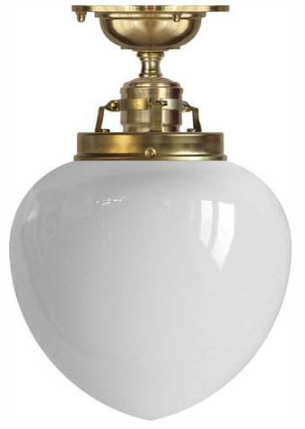 Ceiling lamp - Craftmans Pendant white drop shade