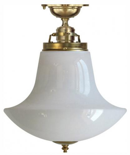 Ceiling lamp - Craftmans Pendant opal white anchor shade