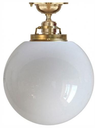 Ceiling lamp - Craftmans Pendant a large opal white glass globe