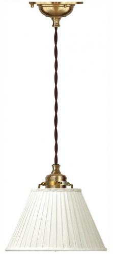 Celing Lamp - Craftmans cord pendant with textile shade