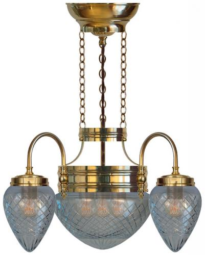 Chandalier - Three-armed ring chandalier 1900