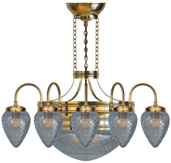 Chandelier - Nine-armed ring chandelier 1900