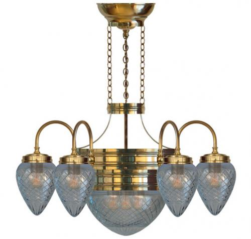 Chandalier - Six-armed ring chandalier 1900