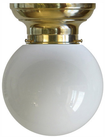 Taklampe - Frödingplafond 100, hvit kuppel