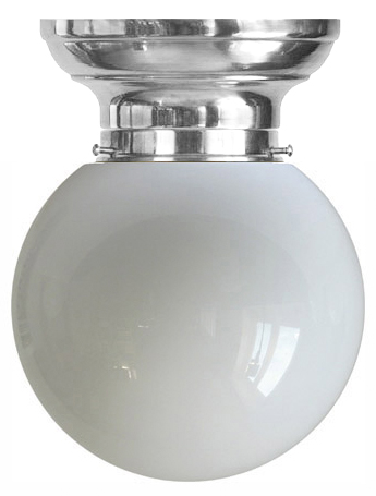 Ceiling Lamp - Frödingsplafon 100 nickel white globe screen - old style - classic interior - oldschool style - vintage
