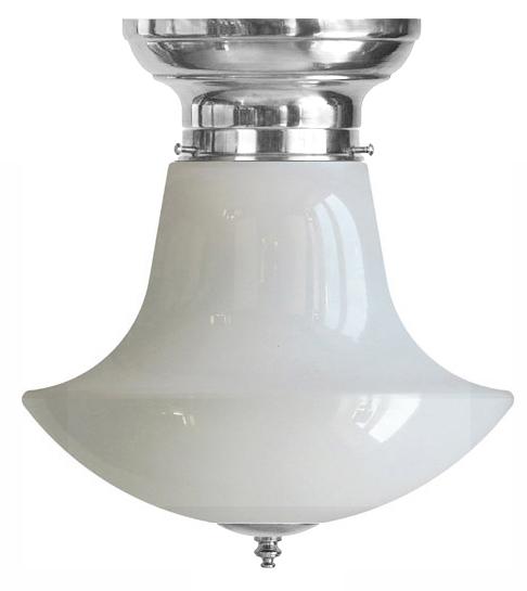 Taklampe - Frödingplafond 100 nikkel, klokkeformet skjerm