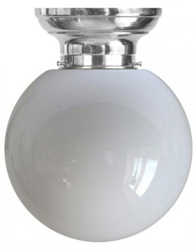 Ceiling lamp - Fröding plafond 100 nickel plated large globe shade