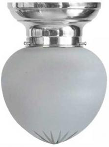 Taklampa - Frödingplafond 100 förnicklad slipat mattglas
