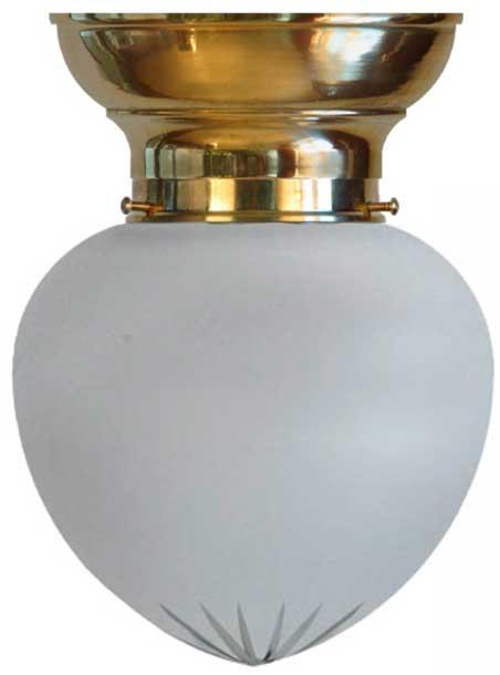 Taklampa - Frödingplafond 100 mässing slipat mattglas