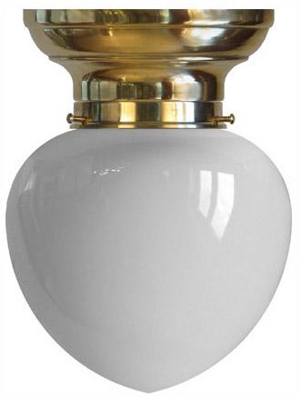 Taklampa - Frödingplafond 100 opalvit droppe