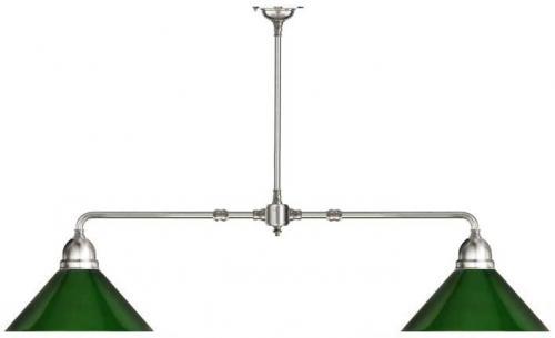 Taklampa - Spelbordslampa förnicklad med grön skärm