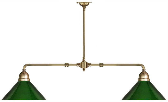 Table Lamp In Br With Green Shades Clic Antique Style Lighting