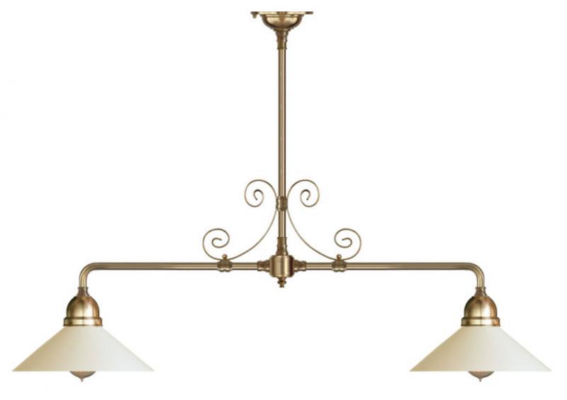 Taklampa - Spelbordslampa med ornament, vit skärm