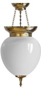 Foyer Bowl Lamp - 200 brass, opal white glass