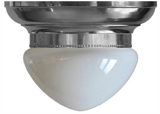 Ceiling Lamp - Fröding bowl lamp 200 nickel opal white