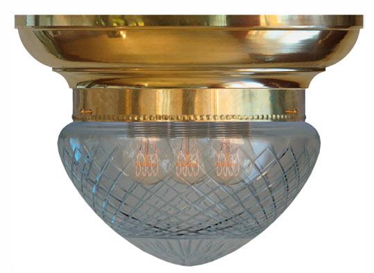 Plafond - Taklampe Frödingplafond 200, slipt klart glass