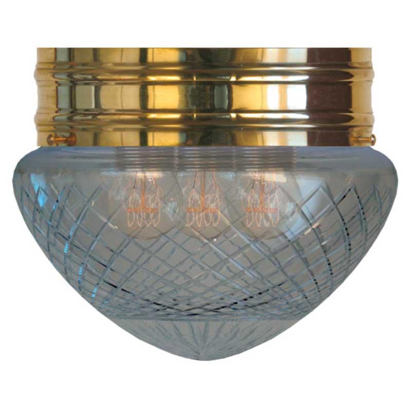 Taklampe - Heidenstamplafond 200 klart glass - arvestykke - gammeldags dekor - klassisk stil - retro - sekelskifte
