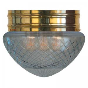 Bowl Lamp - Heidenstam 200 cut clear glass