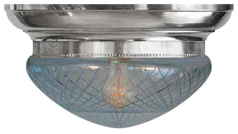 Plafond - Taklampe Frödingplafond 300, slipt klart glass nikkel - arvestykke - gammeldags dekor - klassisk stil - retro - sekelskifte