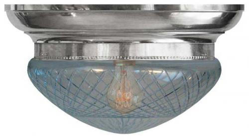 Bowl Lamp - Fröding 300 nickel clear glass