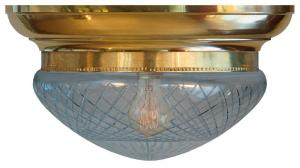 Bowl Lamp - Fröding 300 clear glass - old style - retro