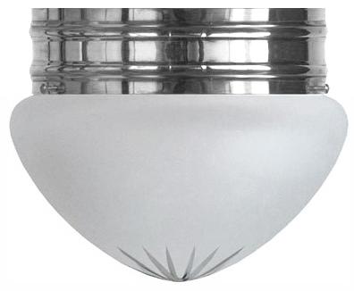 Taklampa - Heidenstamplafond 200 förnicklad mattglas - gammaldags inredning - retro - klassisk stil