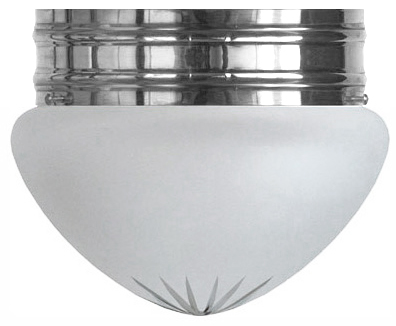 Bowl Lamp - Heidenstam 200 nickel-plated cut frosted glass
