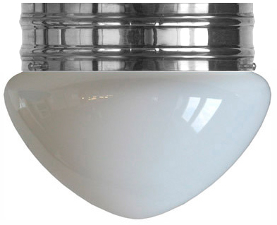 Bowl Lamp - Heidenstam 200 nickel-plated with opal white glass - old style - oldschool interior - old fashioned style