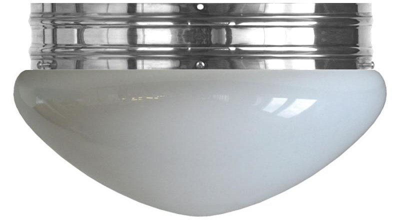 Taklampe - Heidenstamplafond 300 nikkel opalhvit