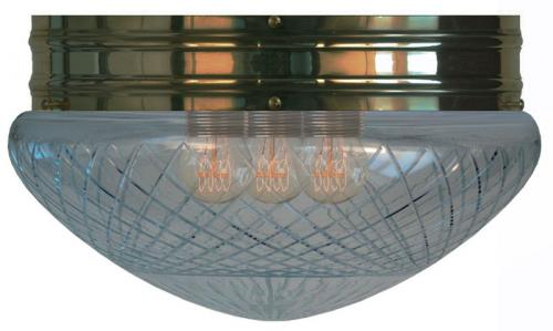 Bowl Lamp - Heidenstam 300 antique clear glass