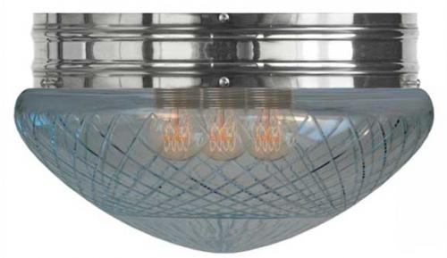 Bowl Lamp - Heidenstam 300 nickel-plated with clear glass
