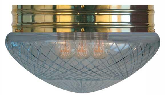 Taklampa - Heidenstamplafond 300 klarglas - gammaldags inredning - klassisk stil - retro -sekelskifte