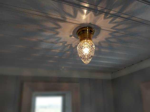Taklampa - Frödingplafond 80 droppe klarglas - gammaldags stil