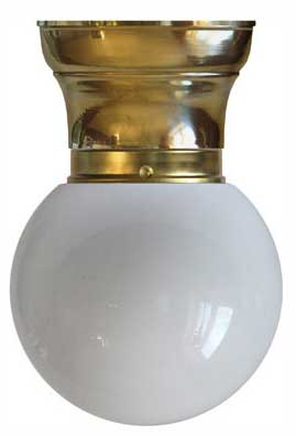 Bowl Lamp - Fröding 80 opal white glass