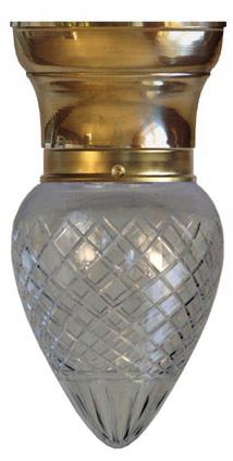 Taklampa - Frödingplafond 80 droppe klarglas - sekelskiftesstil - gammaldags inredning - klassisk stil - retro