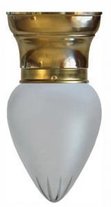 Taklampa - Frödingplafond 80 droppe matterad - klassisk inredning - gammal stil