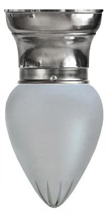 Taklampa - Frödingplafond 80 droppe matterad förnicklad - sekelskiftesstil - gammaldags inredning - klassisk stil - retro