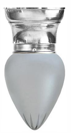Gammaldags Taklampa - Frödingplafond 80 droppe matterad förnicklad