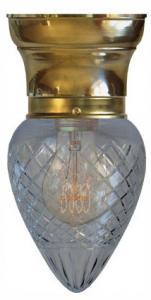 Taklampa - Frödingplafond 80 droppe klarglas - gammal stil - sekelskifte