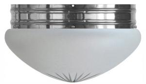 Bowl Lamp - Heidenstam 300 nickel-plated frosted glass