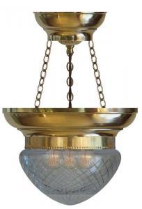 Ampel - Fröding 200, slipt klart glass - arvestykke - gammeldags dekor - klassisk stil - retro