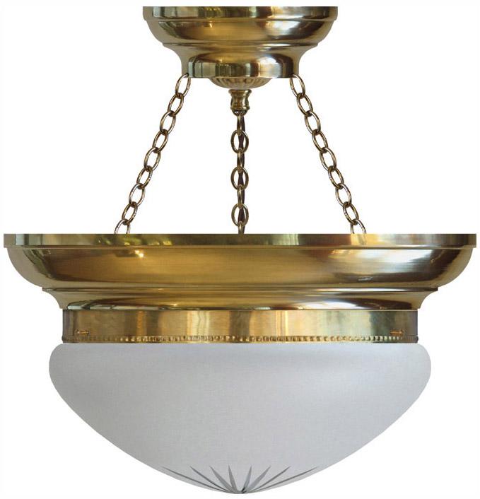 Ampel - Frödingampel 300 slipat mattglas - gammaldags stil - klassisk inredning