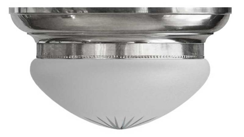 Bowl Lamp - Fröding 300 frosted glass nickel