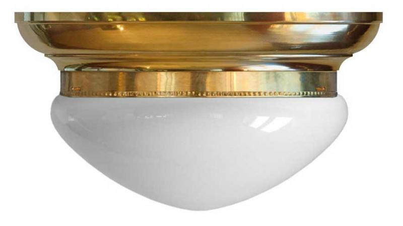 Plafond - Taklampe Frödingplafond 300, opalhvitt glass - arvestykke - gammeldags dekor - klassisk stil - retro - sekelskifte