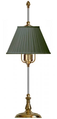 Table Lamp - Kellgren brass, dark green shade