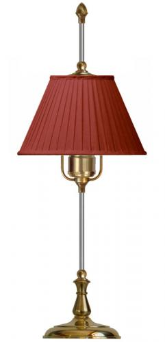 Table Lamp - Kellgren brass, red shade