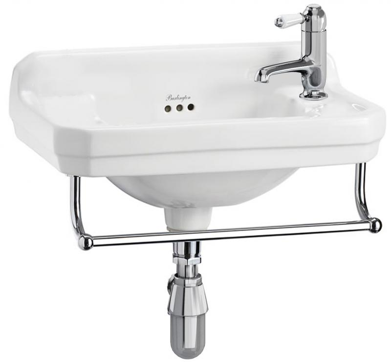 Wash Basin - Burlington Edwardian JR 51 cm with towel rail